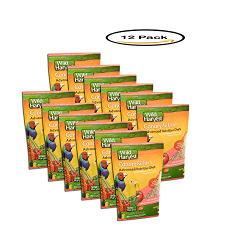 PACK OF 12 - 8In1 Pet Products Super Premium Wild Harvest Canary & Finch Food, 2 lbs by Wild Harvest