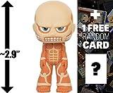 "Colossal Titan: ~2.9"" Anime x Funko Mystery Minis Vinyl Figure + 1 FREE Anime Themed Trading Card Bundle [61463]"