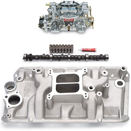 Edelbrock 2131PK Performer Power Package; Intake Manifold, Carburetor and Cams
