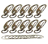 Bytiyar 10 PCS Metal Pet ID Tag Swirel Quick Clips with Captive Eye Hole,Egg Shape Spring Snap Hook Clips Quick Link Carabiner Shackle of Pet Clips .Perfect for Dogs and Cats Collars and Harnesses