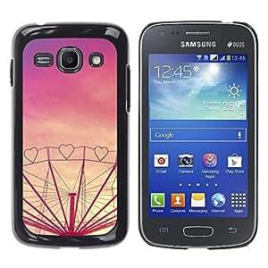 Cubierta protectora del caso de Shell Plástico || Samsung Galaxy Ace 3 GT-S7270 GT-S7275 GT-S7272 || Purple Sunset Fair Amusement @XPTECH