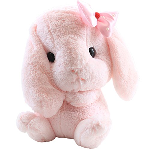 "Cuddly Giant Huge Easter Bunny Pink Bow Rabbit Doll 30 "" Sof"