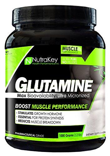NutraKey L-Glutamine, 1000-Gram