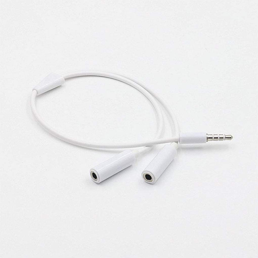 F-blue Adaptador de Auricular de 3,5 mm Audio Splitter Headset Cable Y Splitter Audio Cable 1 Male Jack para 2 Dual Mujer