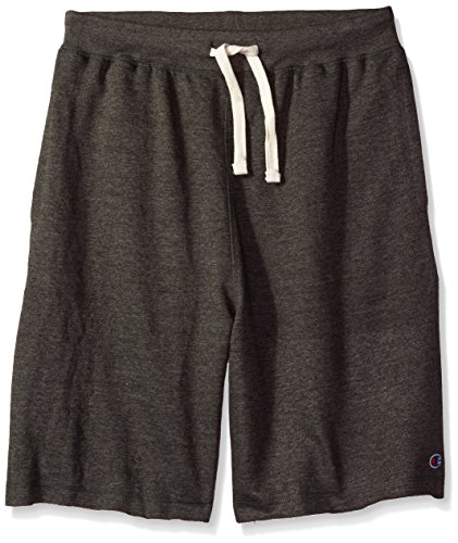 Champion Men's Big and Tall French Terry Short, Charcoal Heather, (French Terry Logo Short)