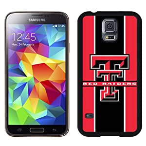 Fashionable And Unique Designed With NCAA Big 12 Conference Big12 Football Texas Tech Red Raiders 10 Protective Cell Phone Hardshell Cover Case For Samsung Galaxy S5 I9600 G900a G900v G900p G900t G900w Phone Case Black