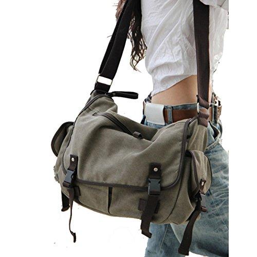 Capacità Handbag Donna Bag Messenger Spalla Intercambiabile Tempo Hobo Cachi Nclon Tela Grande Borsa Vintage Progettazione Donna cachi Zaino Uomo De Borse Di Libero AvSqTR7