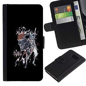 // PHONE CASE GIFT // Moda Estuche Funda de Cuero Billetera Tarjeta de crédito dinero bolsa Cubierta de proteccion Caso Sony Xperia Z3 Compact / Punk Skull Splash /