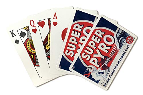 Super Pyro Anti - Freeze Vintage Poster USA (Playing Card Deck - 52 Card Poker Size with ()