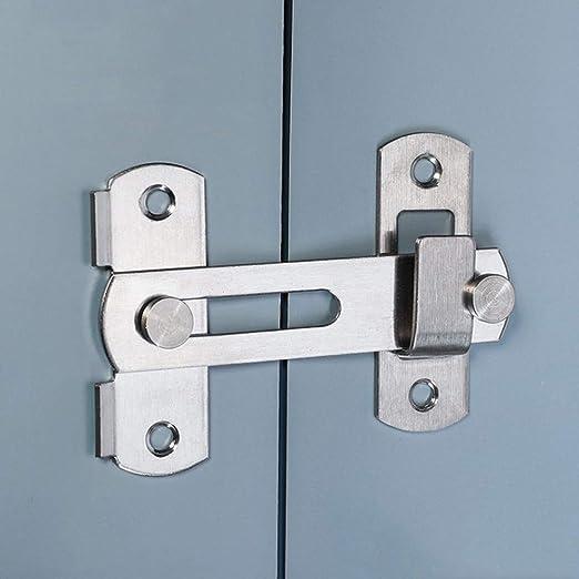 La puerta del pestillo con tapa de acero inoxidable se cierra en la cerradura de la puerta de seguridad del pestillo de la barra para la puerta del ...
