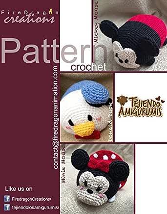 Chaveiro Mickey e Minnie - AMIGURUMI - YouTube | 436x342