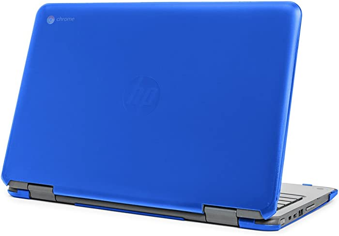 """mCover Hard Shell Case for 11.6"""" HP Chromebook X360 11 G1 EE laptops (NOT Compatible with HP C11 G4EE / G5EE / G6EE) (HP CX360 11 G1EE Blue)"""
