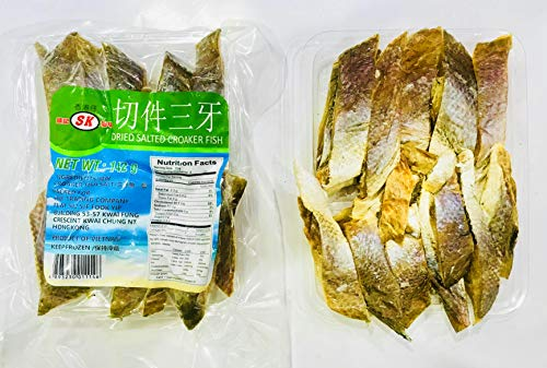 (Dried Light Salted Croaker Fish Slices 淡口切件三牙 2 x 142g)