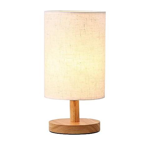 Lámpara de mesa de madera maciza Lámpara de mesa y escritorio ...