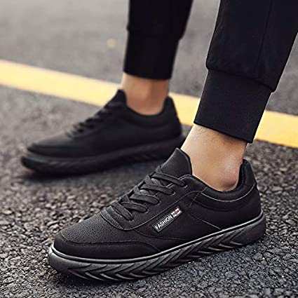 5e4e15a417ea3 Amazon.com: NANXIEHO Leisure Sport Fashion Sneakers Lace Pu Run Men ...
