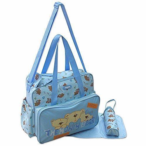 GMMH 3 tlg Baby Farbe blau Wickeltasche Pflegetasche Windeltasche Babytasche Reise Farbauswahl