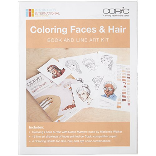Copic Marker Faces Coloring Book