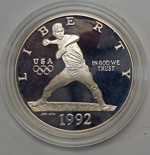 1992 S Olympics Baseball Dollar Proof US Mint