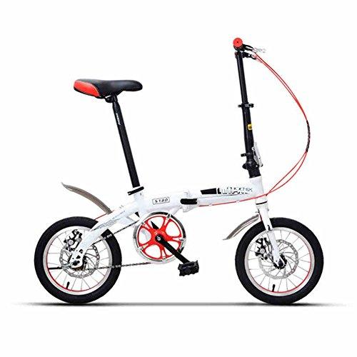 XQ- TY-1002 Bicicletta - Bianca, Collassabile