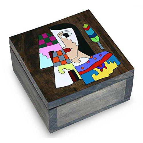 Ladies El Salvador (NOVICA Hand Painted Wood Decorative Box, Multicolor 'El Salvador Woman')
