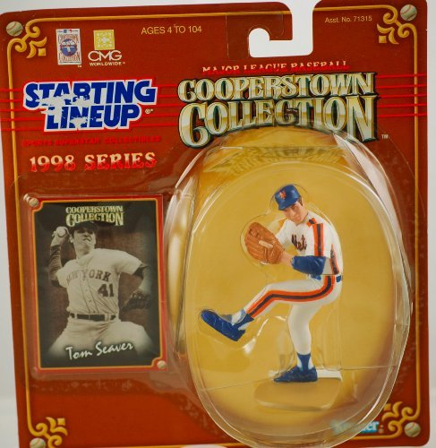 1 X TOM SEAVER / NEW YORK METS 1998 MLB Cooperstown Collection Starting Lineup Action Figure & Exclusive Trading Card