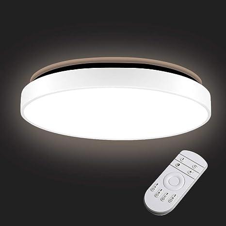 36W Lámpara de Techo,Sararoom Delgado redondo Downlight,Regulable,4500k,2880LM Impermeable Luz de Techo LED,para comedor dormitorio pasillos sala de ...