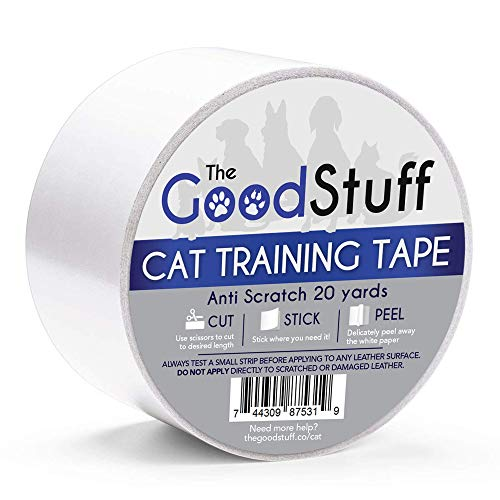 Cat Scratch Tape Furniture Protectors - Guard Your Couch, Doors and Furniture from Anti Scratches Deterrent Cat Training Tape - Great for Leather and Fabric Couches (Wide)