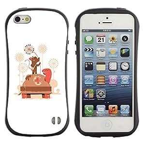 Suave TPU GEL Carcasa Funda Silicona Blando Estuche Caso de protección (para) Apple Iphone 5 / 5S / CECELL Phone case / / Funny Cute Mouse Doctor & Turtle /