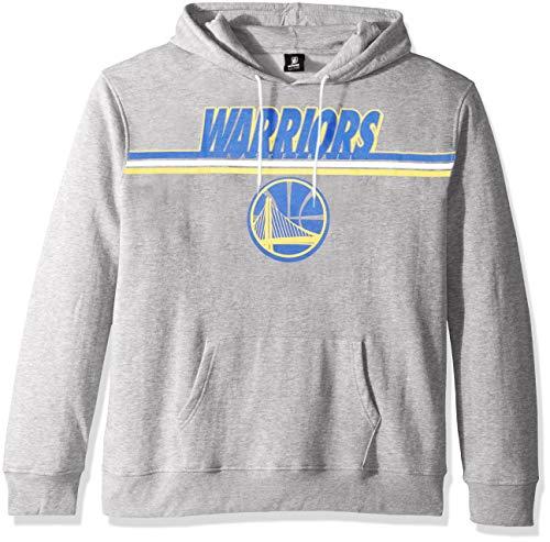 UNK NBA Adult Golden State Warriors Men's Fleece Hoodie Pullover Sweatshirt Out of Bounds, Gray, Large