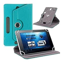 Hongfei 9 10 inch Tablet Stand Folio Case Rotating PU Leather Cover for Fire HD 10, iPad 9.7 2018/2017, iPad Pro 10.5/9.7, iPad 1/2/3/4, iPad Air/Air 2, Samsung Tab A/S/E (Turquoise)