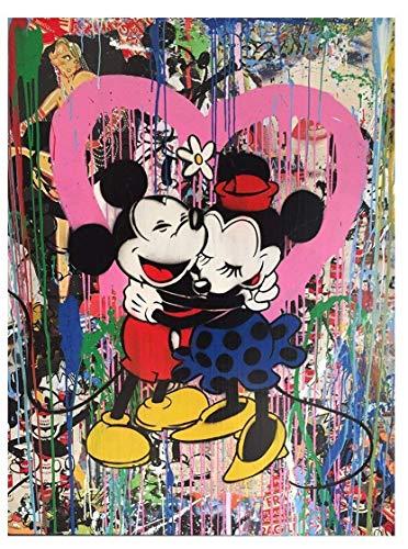 burning desire poster Rare Poster Graffiti MR. Brainwash Mickey Mouse & Minnie Mouse ()