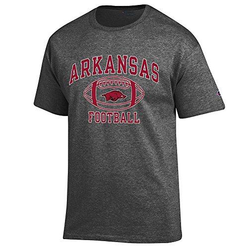 Elite Fan Shop Arkansas Razorbacks Football Tshirt Charcoal - L