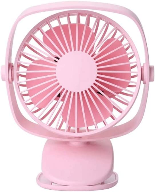Mini USB Table Desk Personal Fan Powered by USB Personal Clip Or Desk Fan with 3 Speeds Multi Versatile for Car Outdoor Metal Design Quiet Operation USB Cable Fan Color : White, Size : One Size