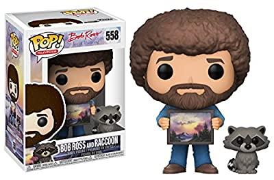 Funko Pop TV Bob Ross with Raccoon (Styles May Vary) Collectible Figure by Funko