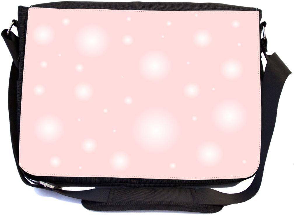 Rikki Knight Bubblegum Pink Bubbles Messenger Bag School Bag