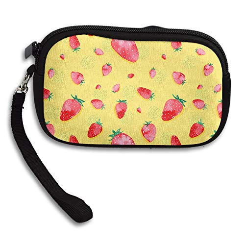 Strawberries Women Girls Cute Fashion Change Pouch Key Holder Snacks Coin Purse Wallet Bag ()