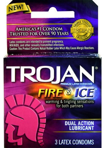 Gift Set Of Neon Luv Touch Bullet Display And one package of Trojan Fire and ... by Pipedream Products