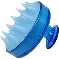 JSBelle Cepillo de silicona para champú, Masajeador de cuero cabelludo con cepillo de champú (Azul)