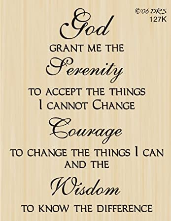 Amazon.com: Serenity Prayer Greeting Rubber Stamp By DRS Designs ...