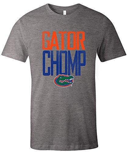 School Football Short Sleeve T-shirt - NCAA Florida Gators Adult NCAA Dotted Phrase Short sleeve Triblend T-Shirt,Large,Grey