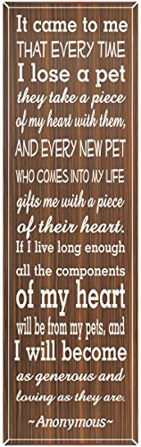 My Pets Take My Heart Quote Sign for Pet Lovers – Fun Sign Factory Original Home Décor Wall Art