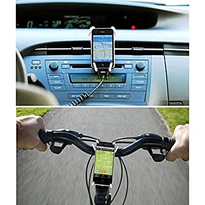 Universal Phone Car Holder Multi-Function Portable Spider Flexible Grip Holder for Smartphones and Tablets, for iPod iPhone X 6/6s/7/7s/8 Samsung Galaxy Andriod Mp4 (2Pack) Guang-T