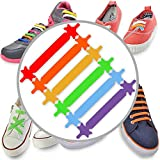 #1 Premium No Tie Laces - Best Silicone Elastic Shoelaces Design For Easy Pull In and Lock It - Super Easy To Clean - Come with Standard and Extra Sets for Kid & Adult - HALLOWEEN SPECIAL TREAT