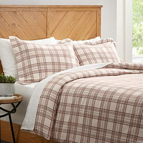 Great Features Of Stone & Beam Rustic Plaid Flannel Duvet Comforter Cover Set