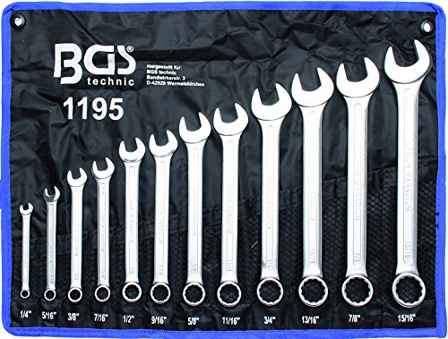 BGS 1195 Maul Ringschlüssel-Satz 12 tlg. SAE/Zoll-Größen