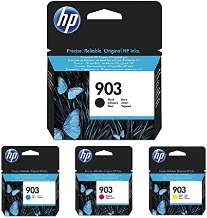 Hp 903 Schwarz Cyan Magenta Gelb Original Druckerpatronen Für Hp Officejet Hp Officejet Pro Bürobedarf Schreibwaren