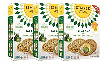 Simple Mills Gluten-Free Sprouted Seed Crackers