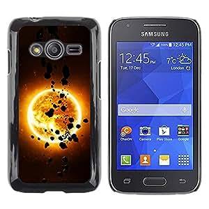 Be Good Phone Accessory // Dura Cáscara cubierta Protectora Caso Carcasa Funda de Protección para Samsung Galaxy Ace 4 G313 SM-G313F // The Sun & Asteroids
