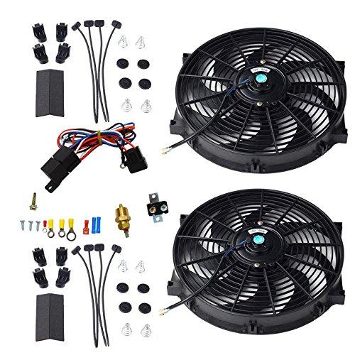 "BLACKHORSE-RACING 16"" Universal Electric Radiator Cooling Fa"