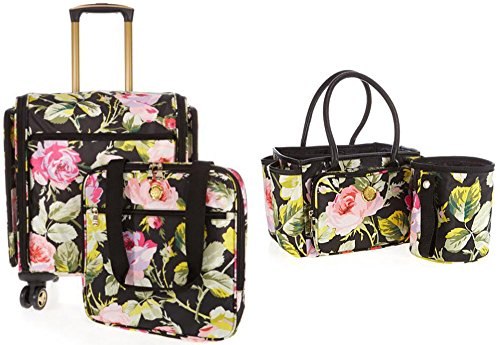 Anna Designs Griffin - Anna Griffin 360 Rolling Craft Storage Bag & Desktop Caddy and Scrap Can Bundle